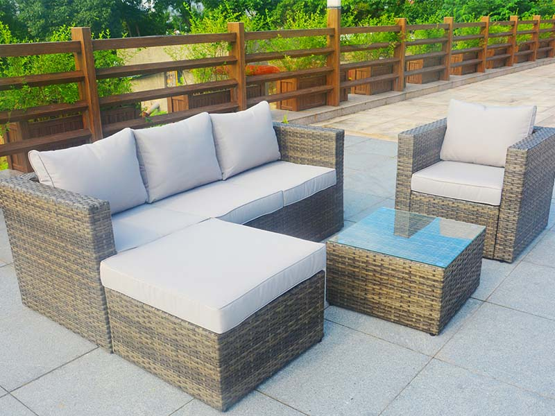 yard rattan sofa set