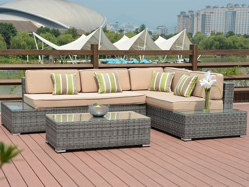 pe rattan outdoor sofa
