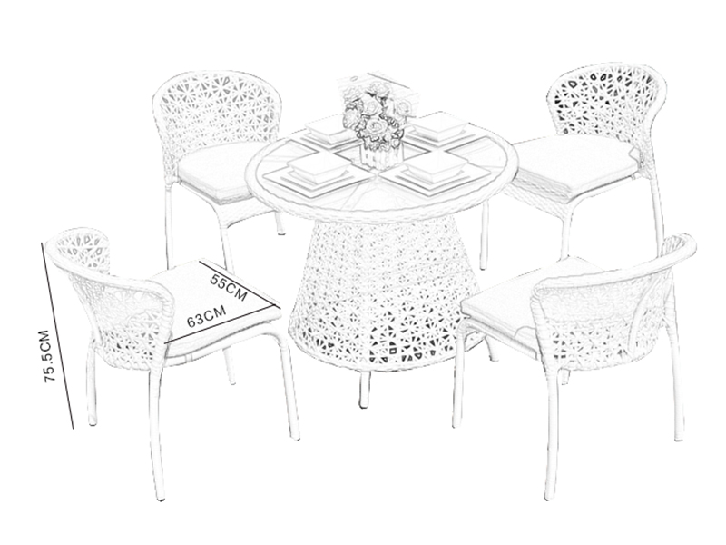 cheap rattan table and chairs