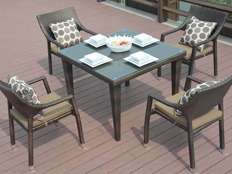 Customize rattan dining set