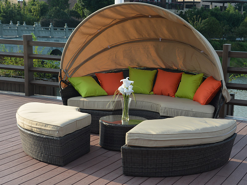 Rattan lying bed designs