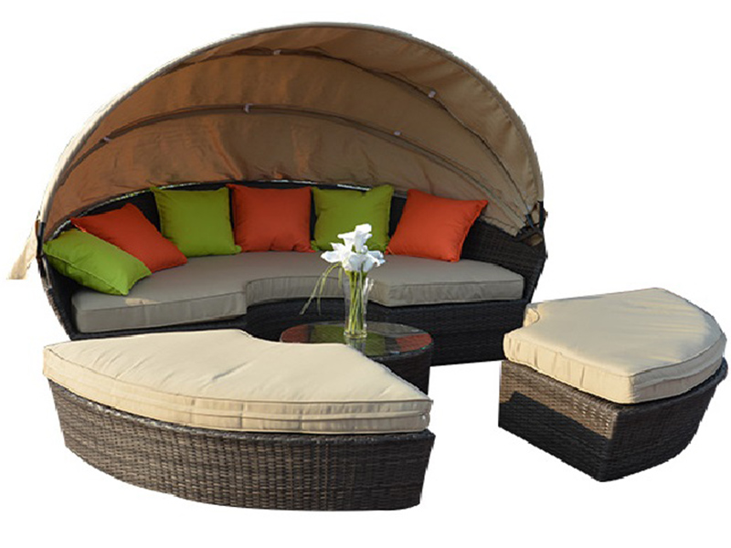 Customized Factory made lying down durable lounge round sun bed