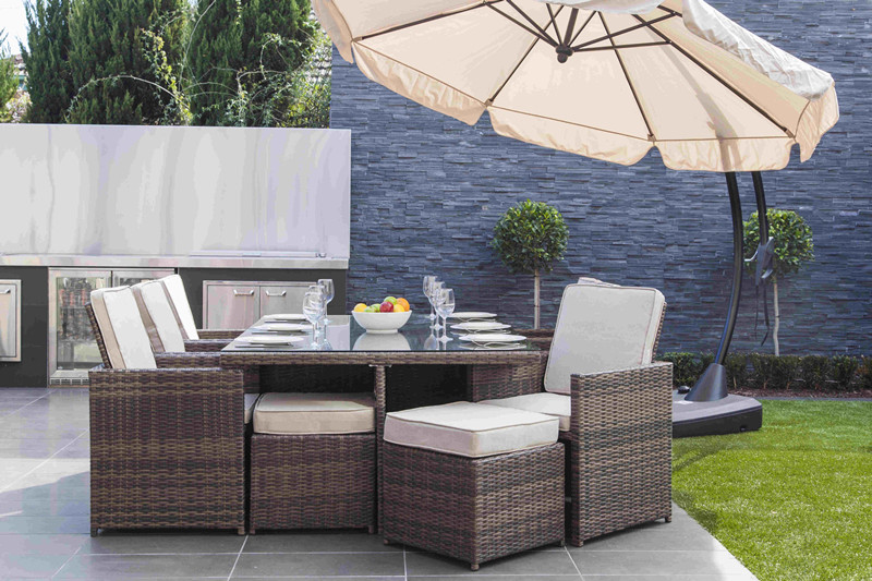 Backyard rattan dinning set
