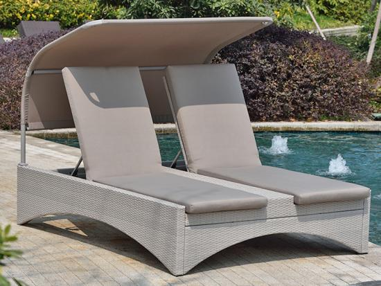 sun lounger with shade