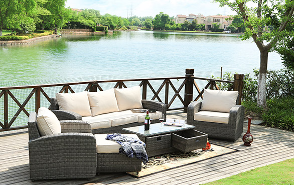 PAS-1515 rattan sofa set